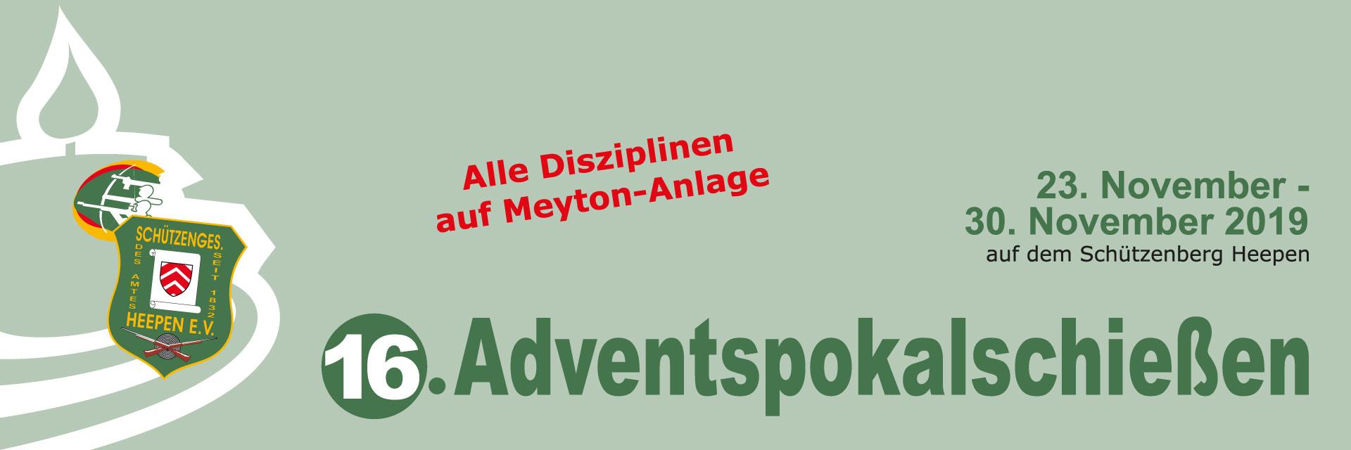 Banner Adventspokalschiessen